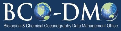 Biological and Chemical Oceanography Data Management Office (BCO-DMO)
