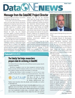 DataONE Fall 2012 Newsletter